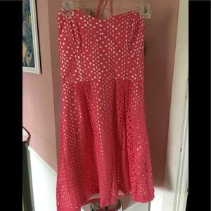 Kenzie coral dress size 6 nwts
